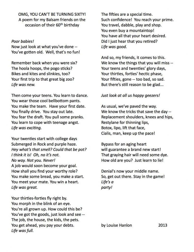 A POEM ON TURNING 60 x2